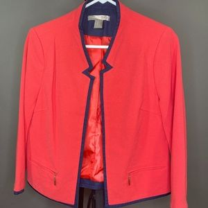 Forever 21 Pink and Navy Blue Blazer
